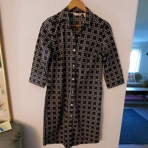 Liz Claiborne Black/White Long Sleeve Dress - 6P